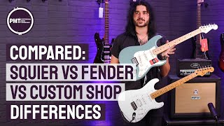 Squier vs Fender vṡ Fender Custom Shop - What You Actually Get For Your Money