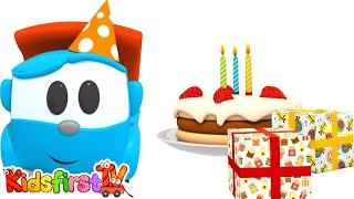 Animation for kids. Happy Birthday, Leo the truck! Car cartoon for kids and for children.