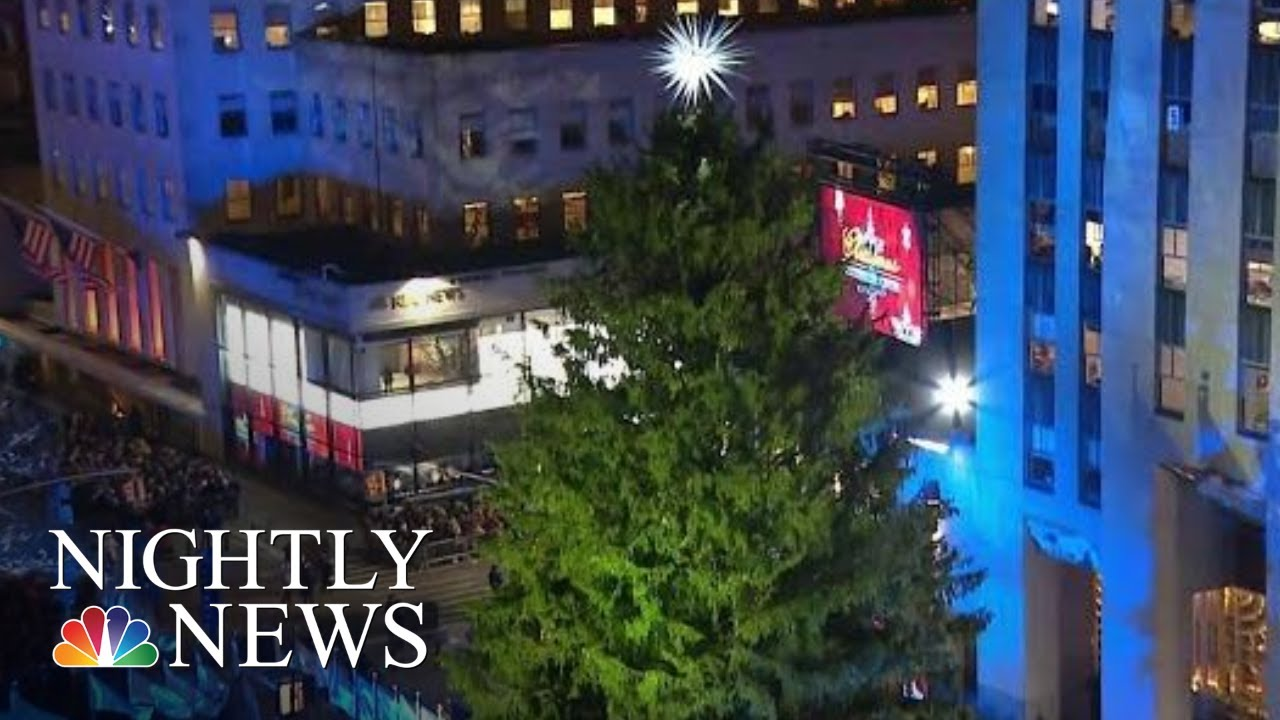 The Story Behind This Year S Rockefeller Center Christmas Tree Nbc Nightly News Youtube