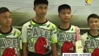 A miraculous story of survival: Thai boys back on the field, play football