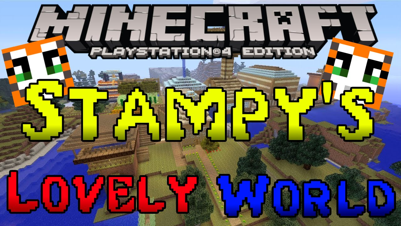 Stampy World Map.Minecraft Ps3 Ps4 Stampy S Lovely World Map Download Youtube