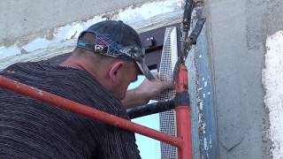 СФТК, мокрый фасад, монтаж элементов примыкания на оконные блоки