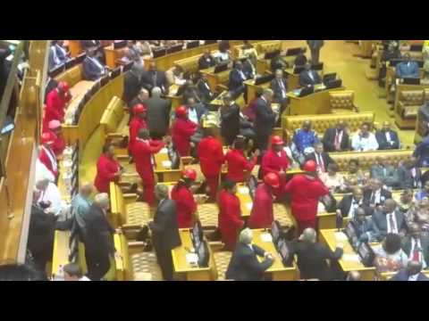 WATCH: EFF enter National Assembly singing and dancing