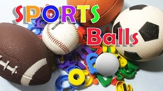 SPORTS BALLS and Colorful Fridge Letter Magnets | Video for Children