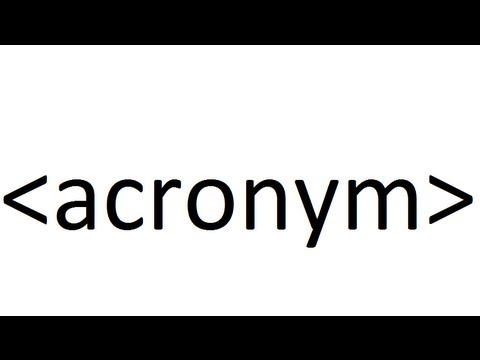 Learn HTML code: acronym
