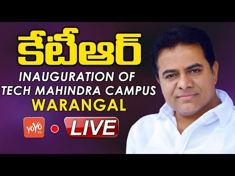 Minister KTR LIVE | Inauguration of Tech Mahindra Campus in Warangal | YOYO TV LIVE