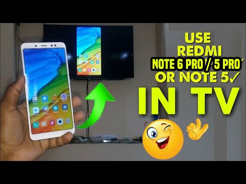 Redmi Note 5 Pro/Note 5 Mirror Your Screen On Tv Play Game/Music/Videos/More..