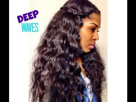 how to create deep waves in hair