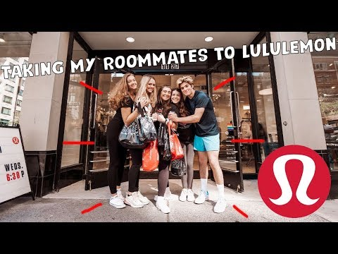 SHOPPING AT LULULEMON WITH MY ROOMMATES