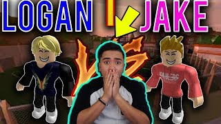 LOGAN PAUL VS JAKE PAUL IN ROBLOX JAILBREAK?! 'REACT'