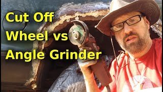 Pneumatic Cut Off Wheel VS Electric Angle Grinder