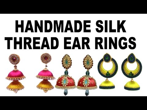 1ff91754c HAND MADE SILK THREAD EAR RINGS CATALOG WITH PRICE | CONTACT FOR ORDER  7799668881 by TELUGU MIXED TUTS
