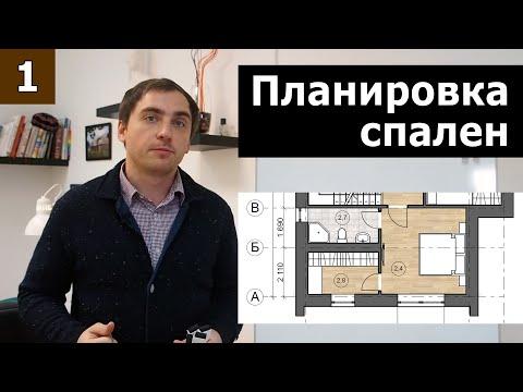 Планировка спален // Часть 1 (теория): пропорции, освещение, зонирование.
