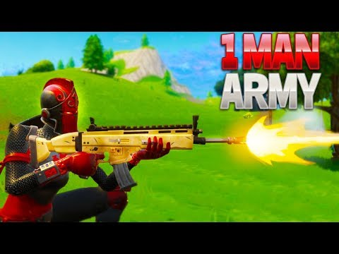 1 MAN ARMY (Fortnite Battle Royale)
