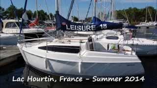 First sail of our new Leisure 18 yacht on Lac Hourtin