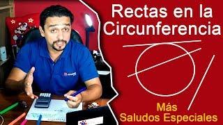 Rectas Secantes, Tangentes y Exteriores a una Circunferencia   Truco Con La Calculadora