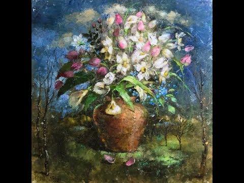 Цветочный натюрморт с Еленой Ильичевой - Белые колокольчики