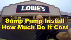 How Much Do Parts Cost for Basement Sump Pump Install