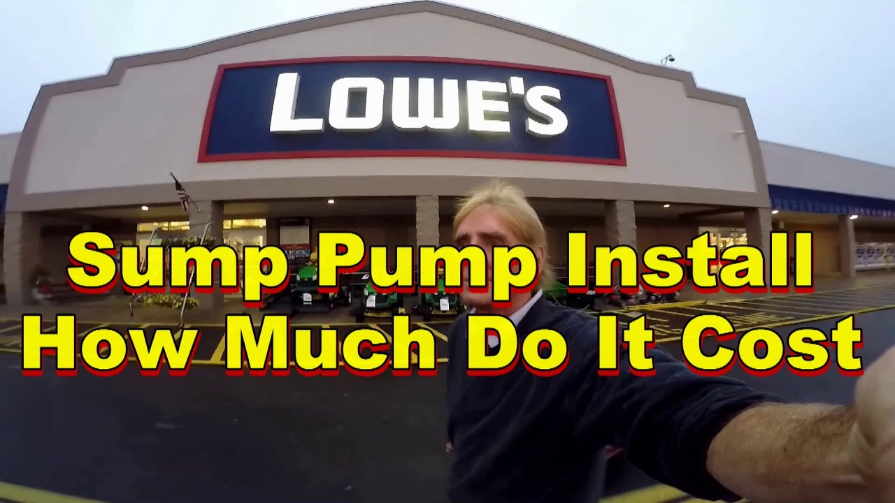 How much do parts cost for basement sump pump install for How much does it cost to build a walkout basement