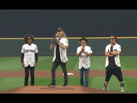Pauly - ALICE IN CHAINS Jerry Cantrell throws Mariners 1st pitch