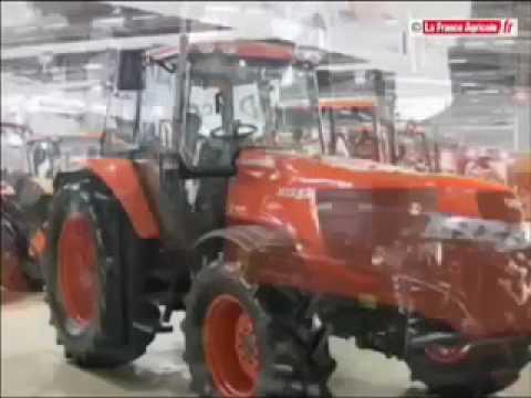 tracteur kubota le 128 x sexpose sima 2009 tracteur et mat riel agricole youtube. Black Bedroom Furniture Sets. Home Design Ideas