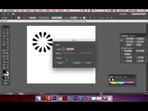 How To Duplicate Any Shape Around A Circular Path (Illustrator CC)