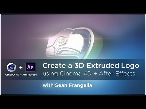 Create a 3D Extruded Logo in Cinema 4D and After Effects (AE & C4D Lite Tutorial) - Sean Frangella