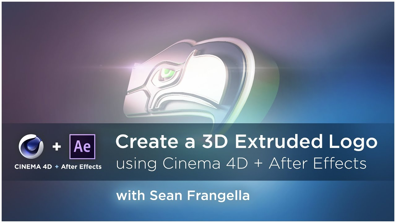Create a 3D Extruded Logo in Cinema 4D and After Effects ...  Create a 3D Ext...