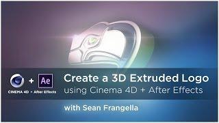 (AE & C4D Lite Öğretici) Cinema 4D After Effects ve 3D Çekilmiş bir Logo oluşturmak - Sean Frangella