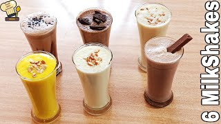 6 मलक शक गरमओ क लए 6 Refreshing Milk ShakeMilk Shake By Food With Tehreem #SummerDrink