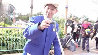 Fun Custodial Cast Member at Tokyo DisneySea Japan
