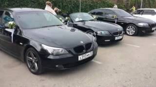 Свадебный кортеж BMW BLACK