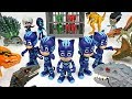 Friends got caught by Dinosaurs army! Go PJ Masks Mirror Image attack!! - DuDuPopTOY
