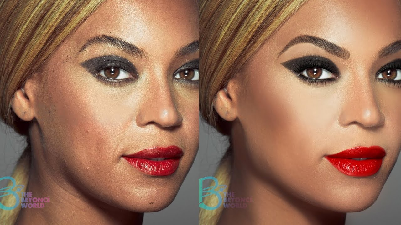 beyonce photoshop makeover - youtube
