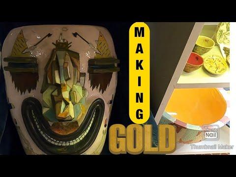 Tour Of Artist Workshop | Estonian Artists And Their Magical Art | käsitöö eestis | Making Gold Art