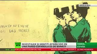 Investigan si un grafiti aparecido en una pared española es de Banksy