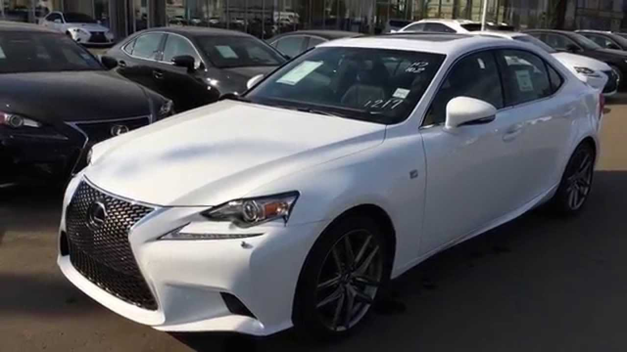 brand new ultra white 2015 lexus is 350 4dr sdn awd f sport series 2 review west edmonton. Black Bedroom Furniture Sets. Home Design Ideas