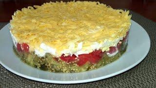 Вкуснейший салат с баклажанами и помидорами