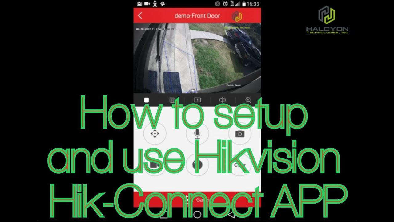Hikvision Hik-connect Phone app - How to register and setup step-by-step  tutorial guide