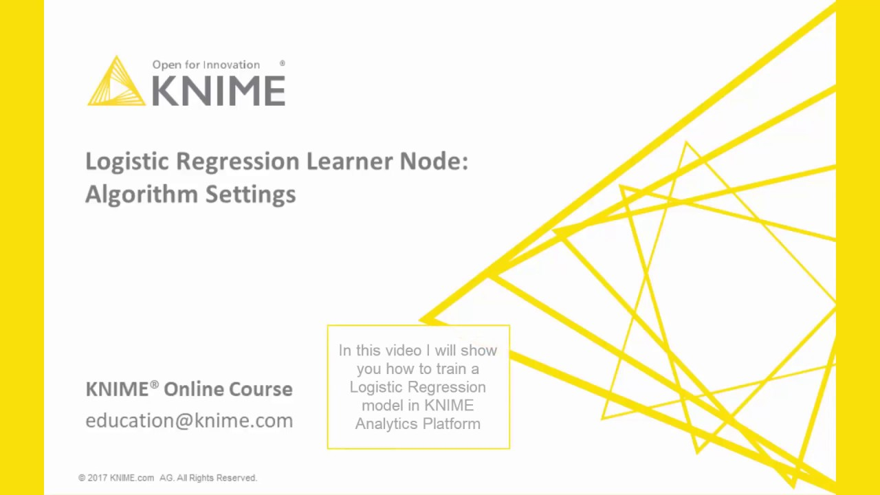 Logistic Regression | KNIME