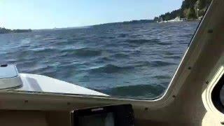 Enjoying my C-Dory 16 Angler on Lake Washington
