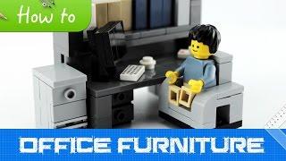 How To Make Lego Office Furniture (2.0 Moc, Basic)