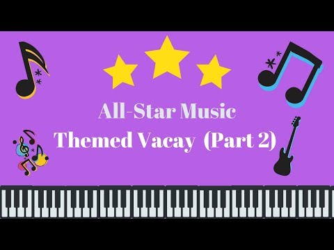 ALLSTAR MUSIC THEMED VACAY PART 2!  FUN POOL  RECREATION!