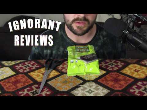 ASMR Review: Organic Roasted Seaweed Snack
