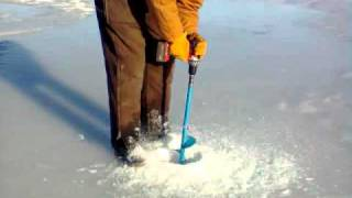 Repeat youtube video Ice Auger using 18v Drill