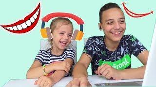 Челлендж НЕ ЗАСМЕЙСЯ Саша и Настя смотрят САМЫЕ Смешные видео Try Not To Laugh Challenge