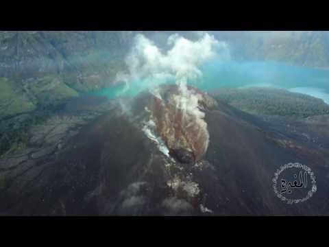 Mount Rinjani Volcano, Lombok, Indonesia (4k DJI Mavic Pro)