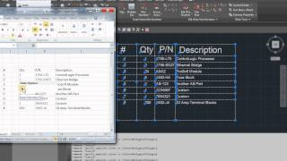 AutoCAD Table Export to Excel