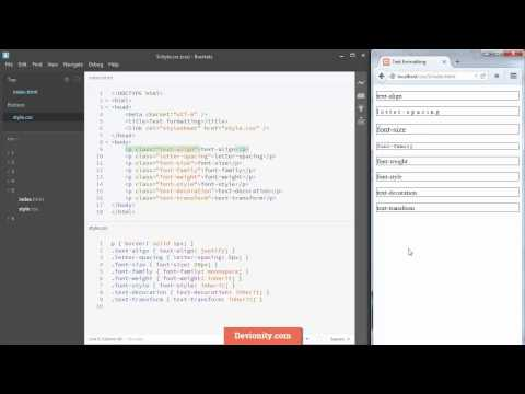 CSS с нуля: 5 - Форматирование текста