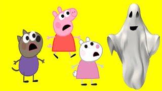 ДОМ С ПРИВИДЕНИЯМИ часть 1.  СВИНКА ПЕППА  Новые Серии на русском языке. Peppa Pig.